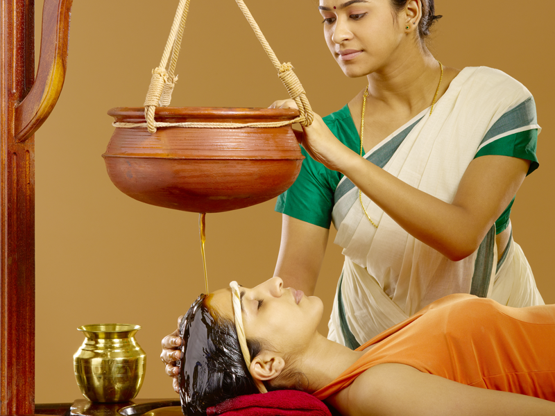 Shirodhara Ayurvedic Therapy / Treatment