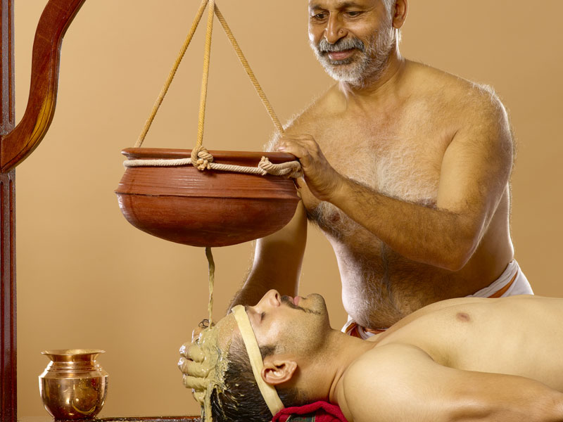 Takradhara Ayurvedic Therapy / Treatment